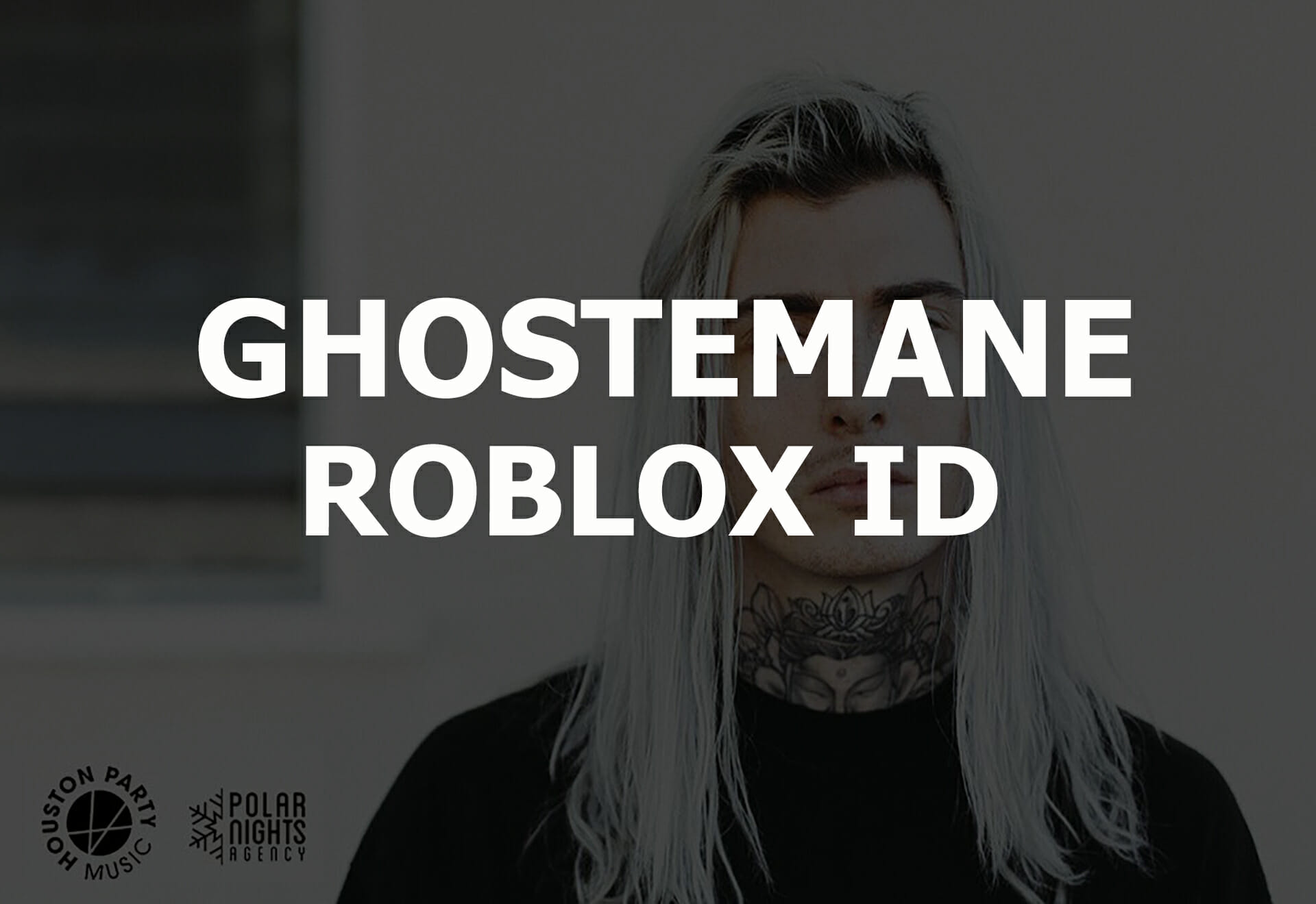 ghostmane roblox id