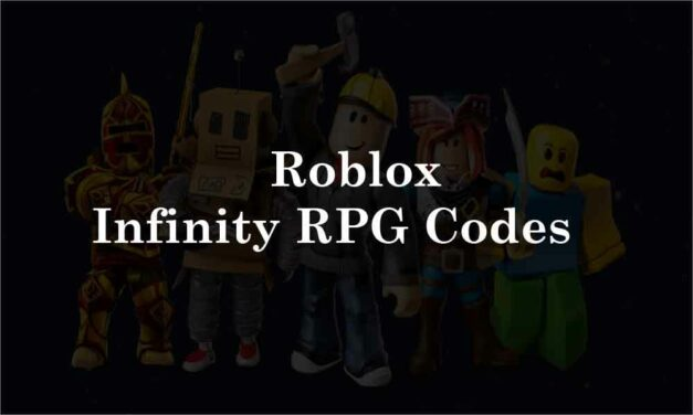 Roblox Infinity RPG Codes-Complete List